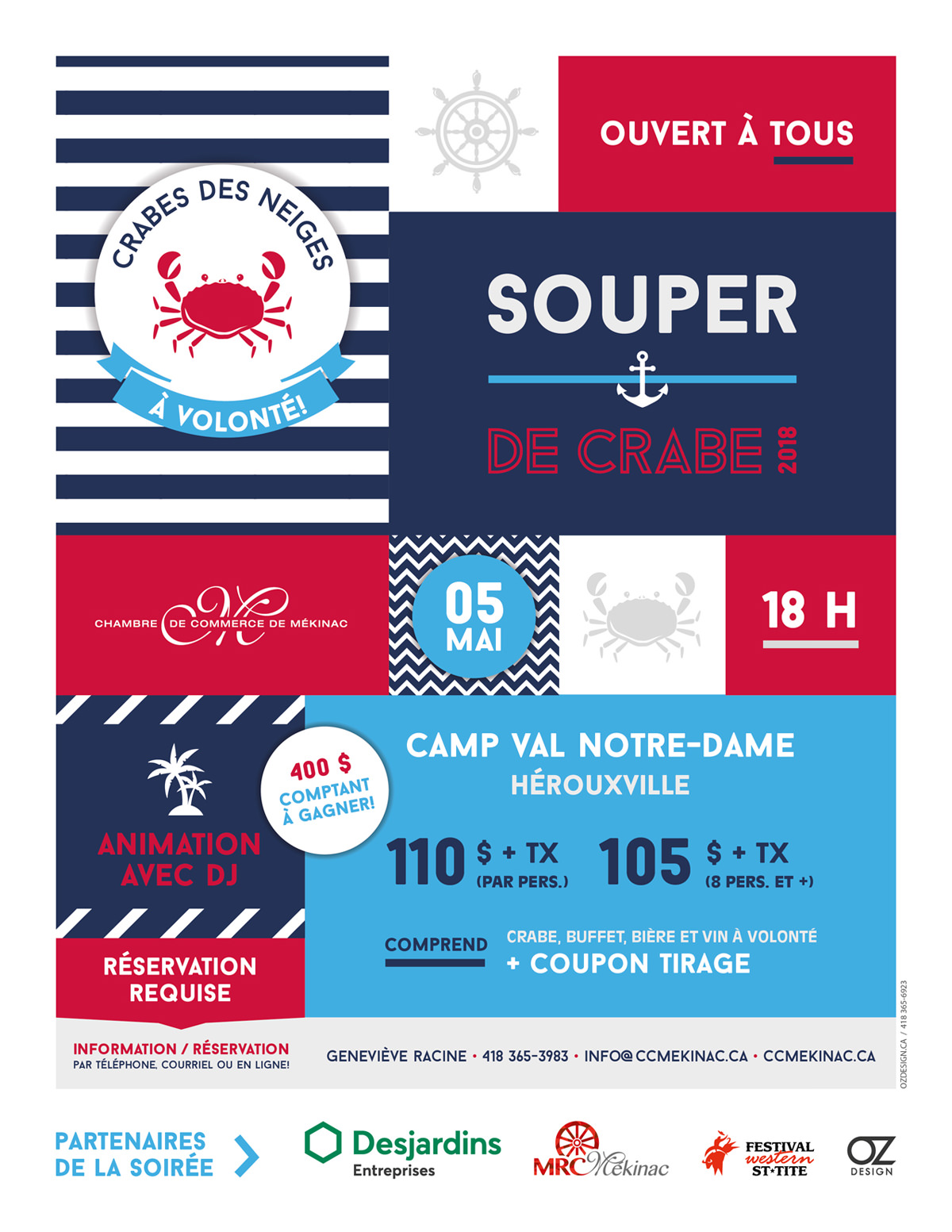 Invitation Souper de Crabe 2018