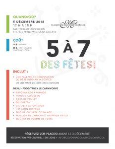 Infos 5 à 7 des fêtes 2018