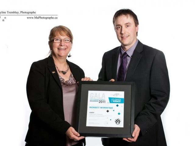 Gala reconnaissance Desjardins 2011 - Lauréat Entreprise de service 6 employés et plus