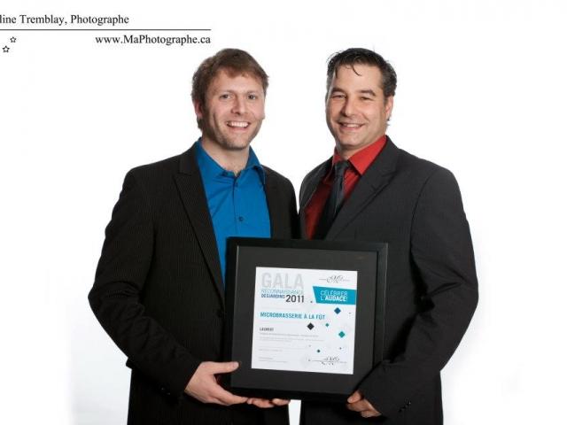 Gala reconnaissance Desjardins 2011 - Lauréat Entreprise du terroir