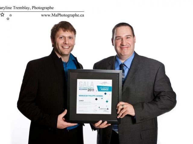 Gala reconnaissance Desjardins 2011 - Lauréat Personnalité Relève jeune gens d'affaires