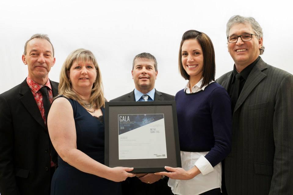 Gala reconnaissance Desjardins 2014 - Lauréat Employeur de choix