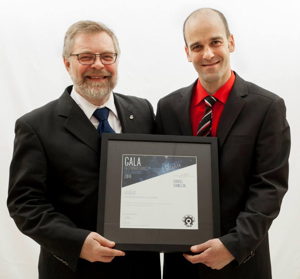 Gala reconnaissance Desjardins 2014 - Lauréat Entrepreneuriat jeunesse
