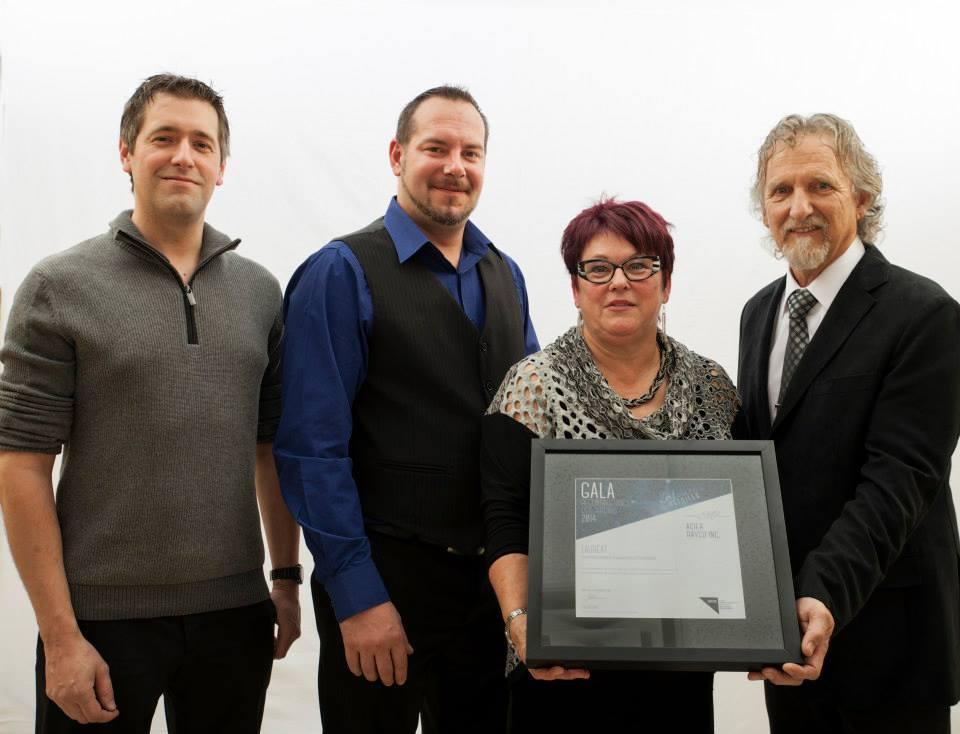 Gala reconnaissance Desjardins 2014 - Lauréat Entreprise manufacturière