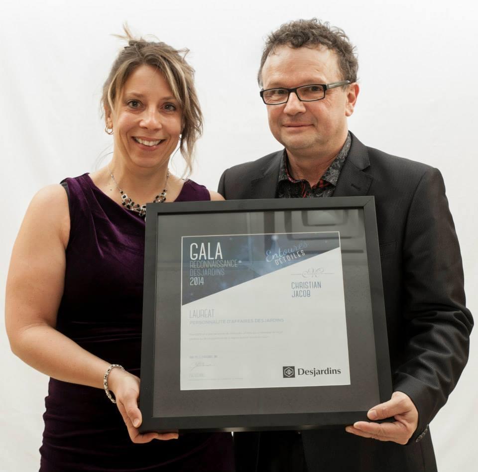 Gala reconnaissance Desjardins 2014 - Lauréat Personnalité d'affaires Desjardins