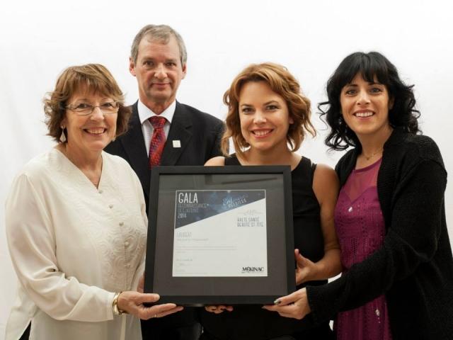 Gala reconnaissance Desjardins 2014 - Lauréat Relève et transfert
