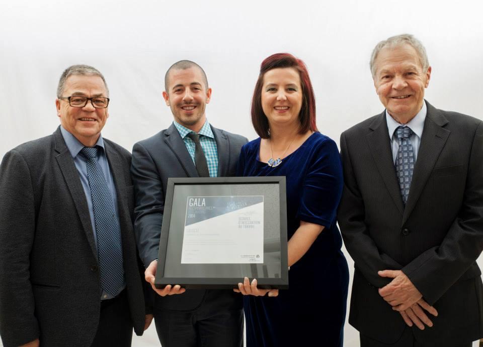 Gala reconnaissance Desjardins 2014 - Lauréat Service à la communauté