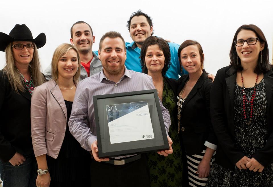 Gala reconnaissance Desjardins 2014 - Lauréat Tourisme et hébergement