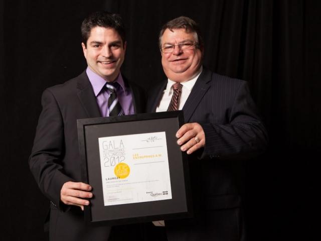 Gala reconnaissance Desjardins 2012 - Lauréat Employeur de choix