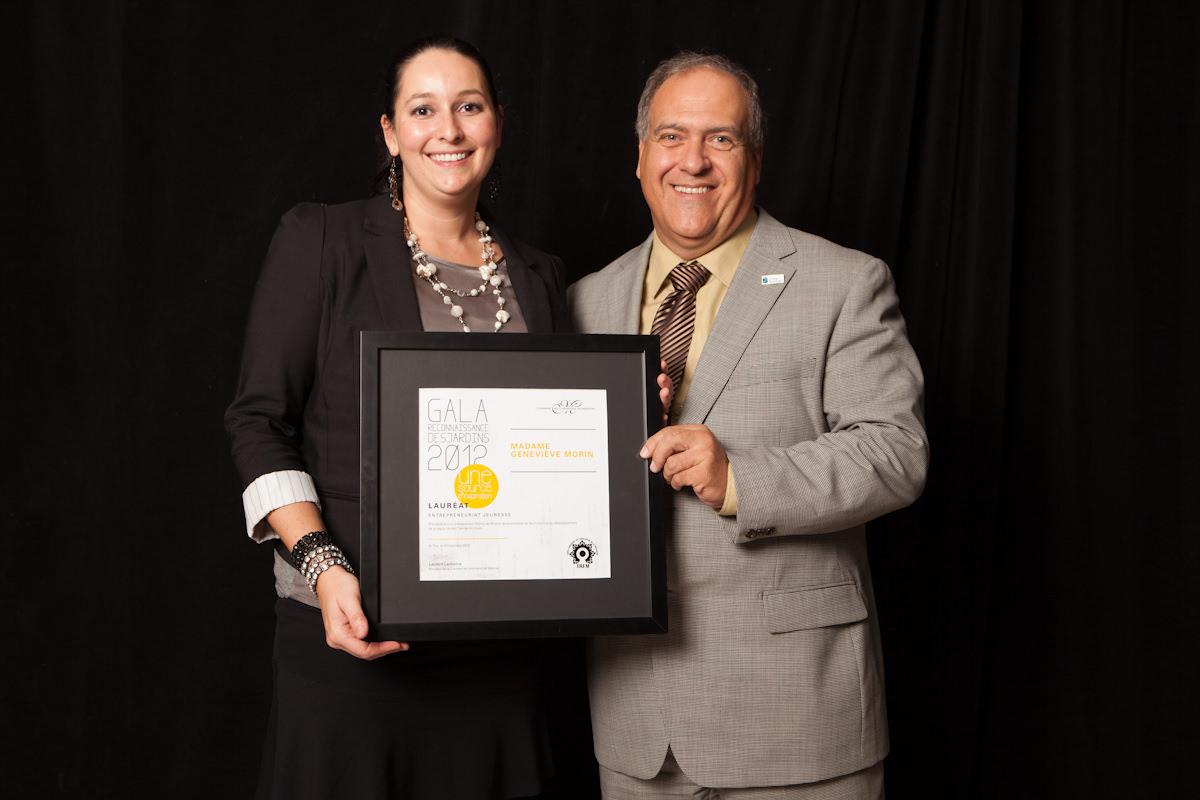 Gala reconnaissance Desjardins 2012 - Lauréat Entrepreneuriat jeunesse