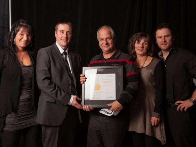 Gala reconnaissance Desjardins 2012 - Lauréat Entreprise du terroir