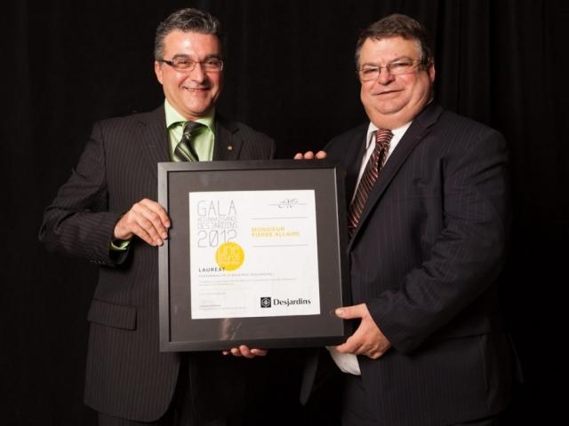 Gala reconnaissance Desjardins 2012 - Lauréat Personnalité d'affaires Desjardins