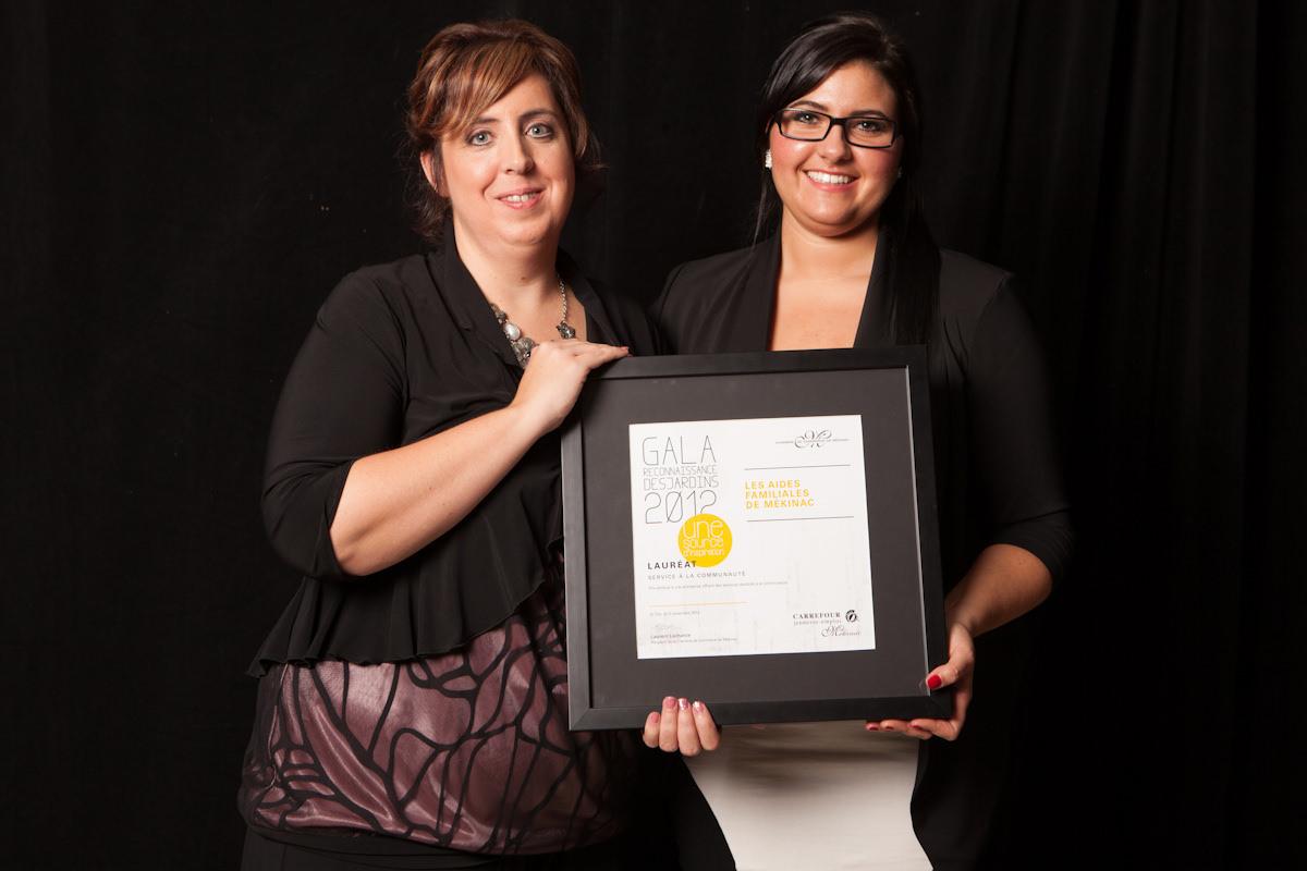 Gala reconnaissance Desjardins 2012 - Lauréat Service à la communauté