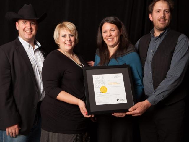 Gala reconnaissance Desjardins 2012 - Lauréat Tourisme et hébergement