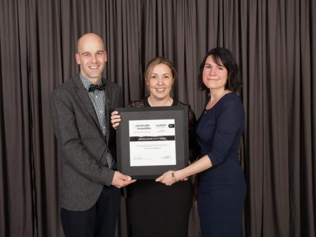 Gala reconnaissance 2017 - Lauréat Relève et transfert