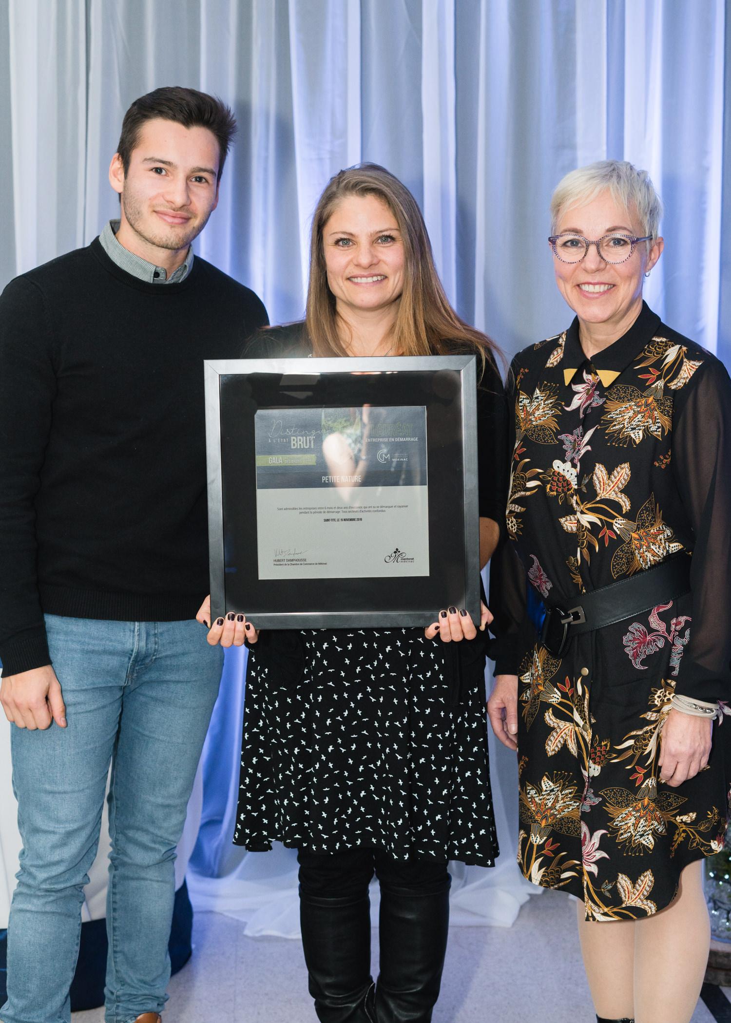 Gala reconnaissance Desjardins 2019 - Entreprise en démarrage - Lauréat Petite Nature
