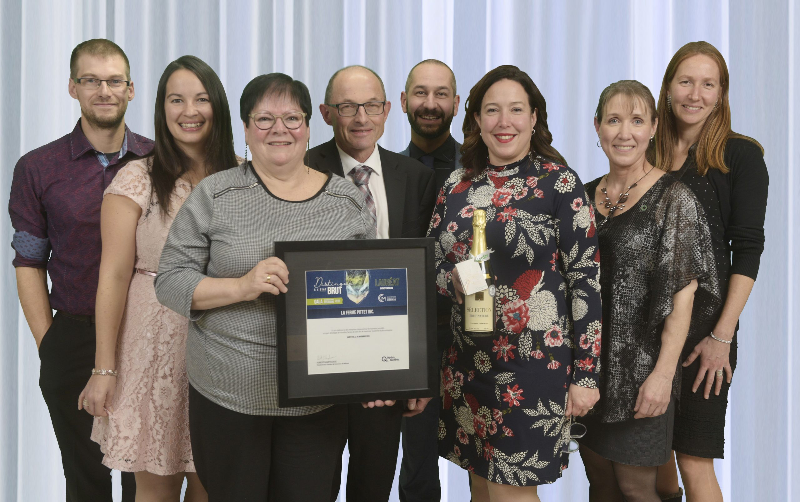 Gala reconnaissance Desjardins 2019 - Innovation - Lauréat La Ferme Pittet