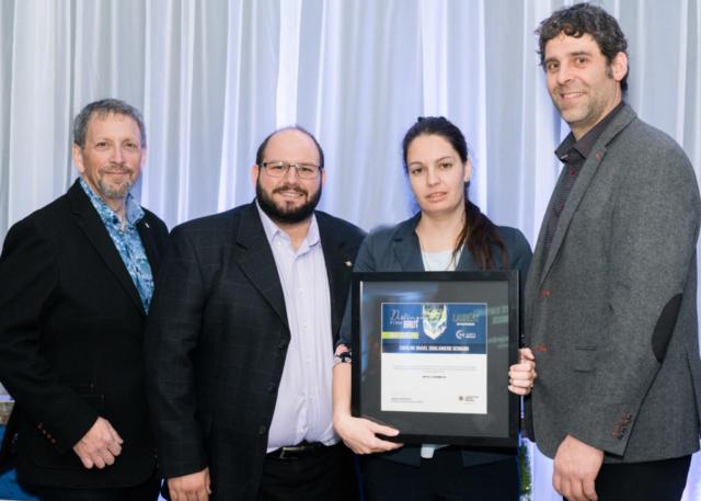 Gala reconnaissance Desjardins 2019 - Intrapreneur - Lauréate Caroline Gravel
